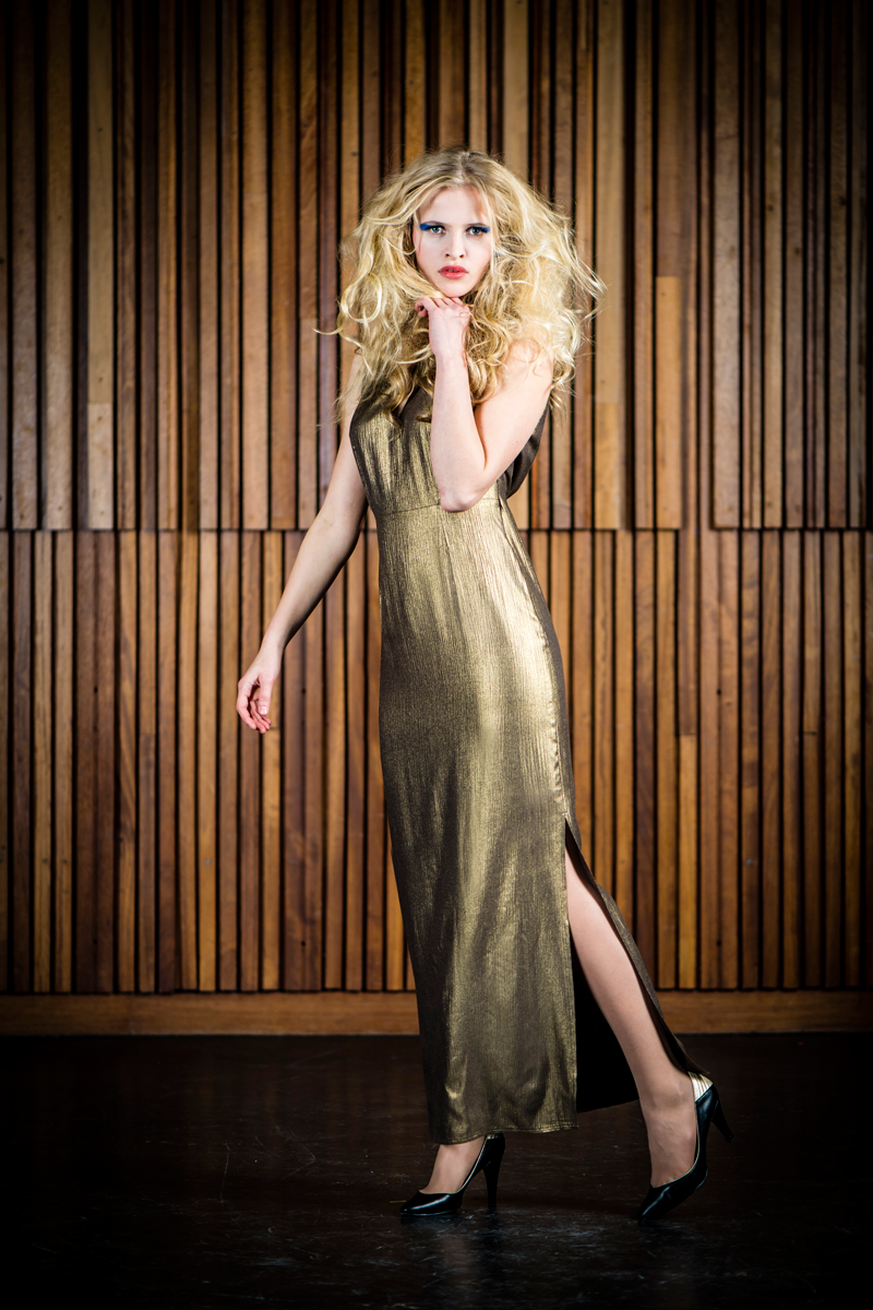 Rose-dress-long-gold