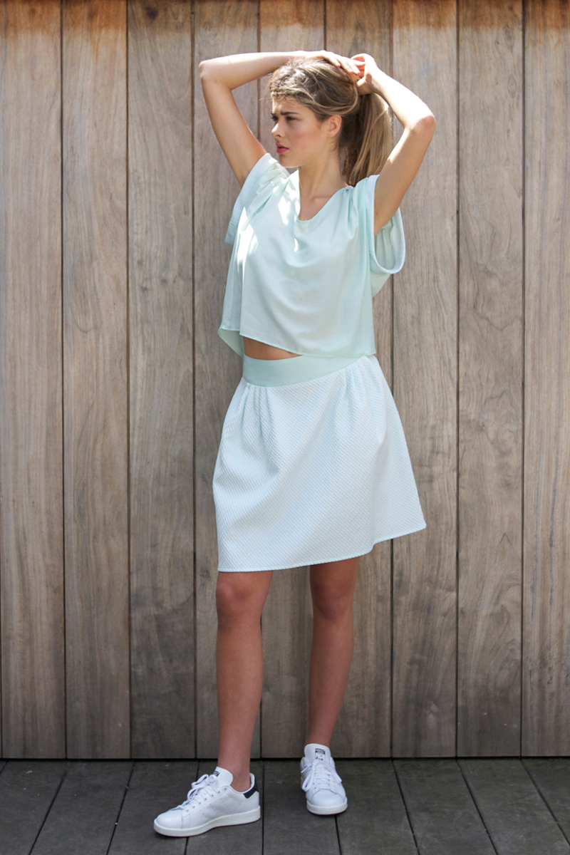 Edith-top-light-blue,-Edith-skirt-light-blue