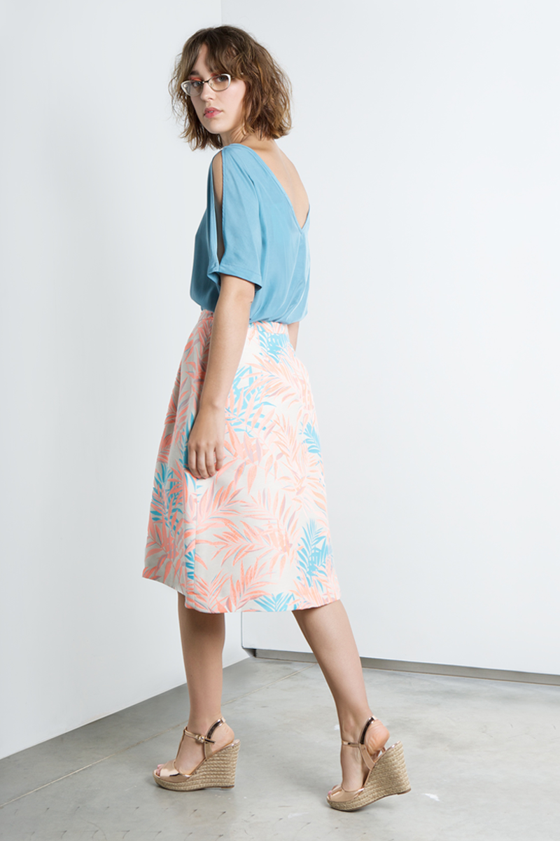 Nora-skirt-fluo-leafs-back