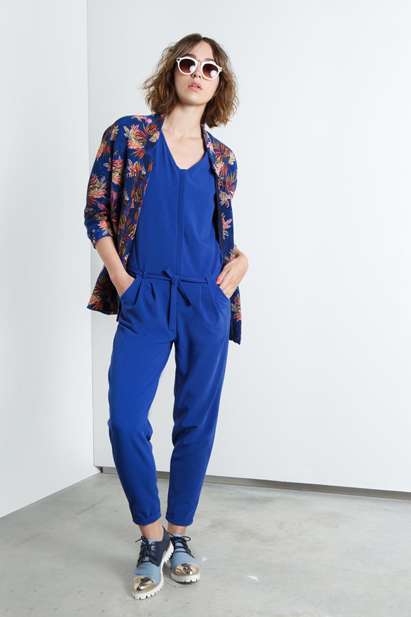 Royal-blue-jumpsuit-&-blue-flowers-april-vest