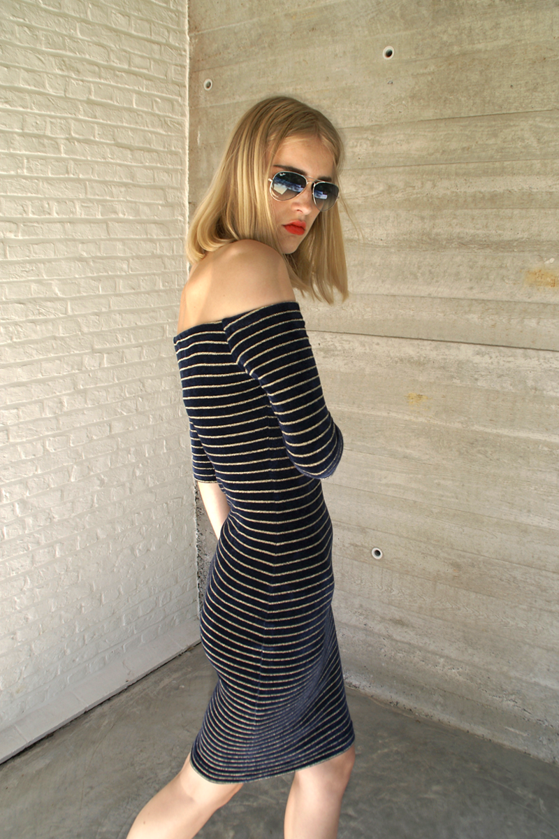 Jo-dress-gold-stripes
