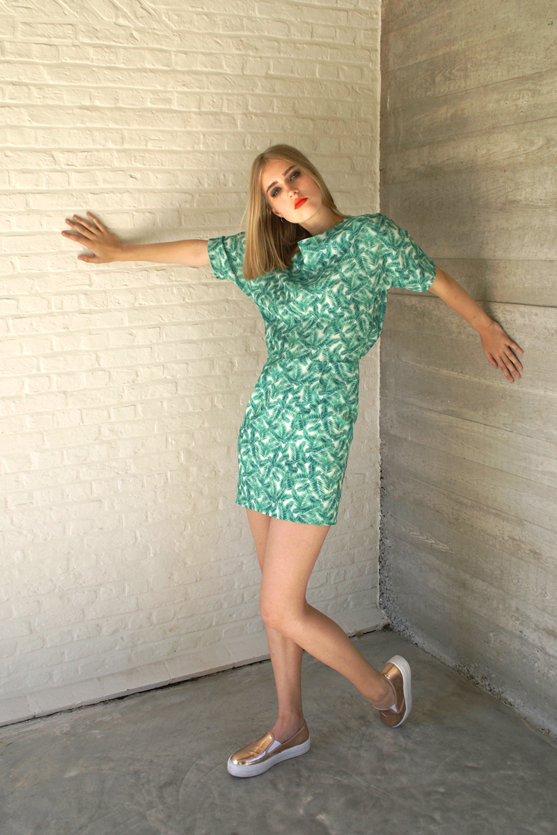 Lucy-dress-green-leaves